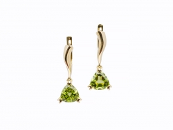 Earrings with peridots