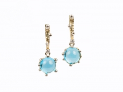 Earrings with blue topazes and brilliants